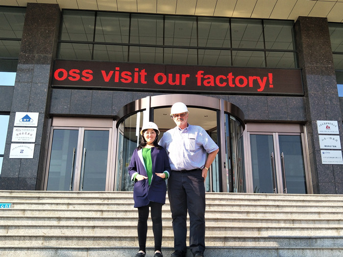 Welcome Mr.William Moss Visit Our Factory